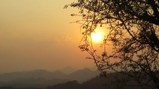 Luang Prabang Sonnenuntergang