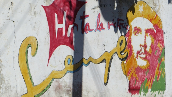 Street Art mit Che Guevara in Vinales