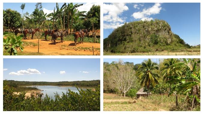 Collage verschiedener Eindrücke im Valle de Vinales