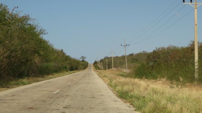 Ein Beispiel für eine kubanische Straße