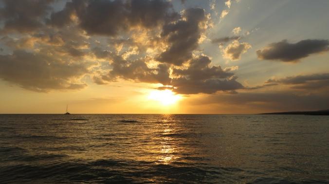 Sonnenuntergang am Strand von La Boca auf Kuba