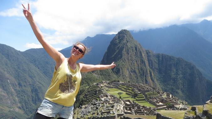 Ein Foto von mir in Machu Picchu