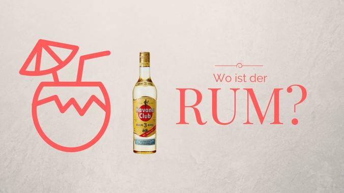 Eine Collage mit dem Schriftzug Wo ist der Rum