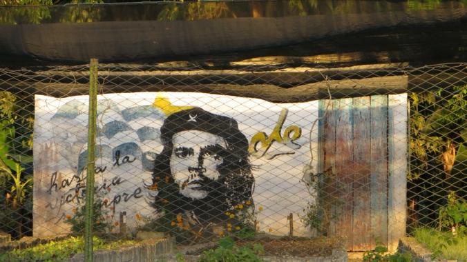Ein Street Art Bild von Che Guevara