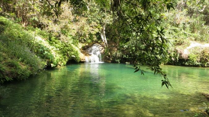 Ein natürlicher Pool in Topes de Collantes.