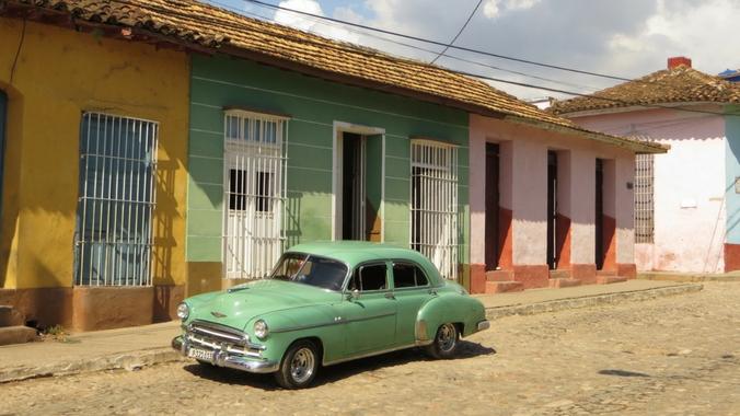 Bunte Häuser in Trinidad auf Kuba