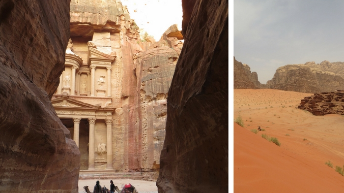 Collage einer Jordanien Reise