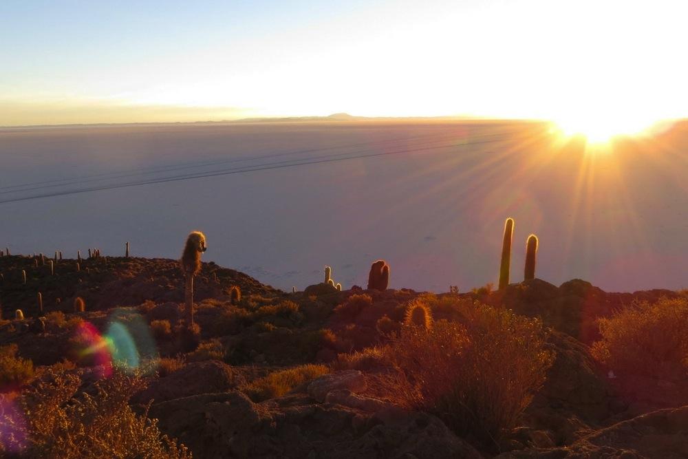 Uyuni Salzwüste Sonnenaufgang