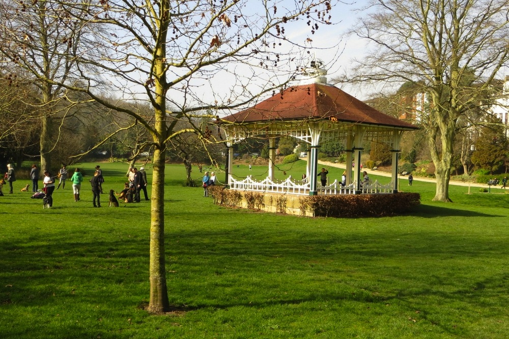 Alexandra Park in Hastings in England