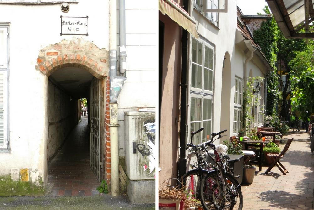 Lübeck Sehenswürdigkeiten Gänge und Höfe