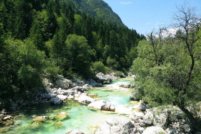 Bovec Slowenien Soca Tal