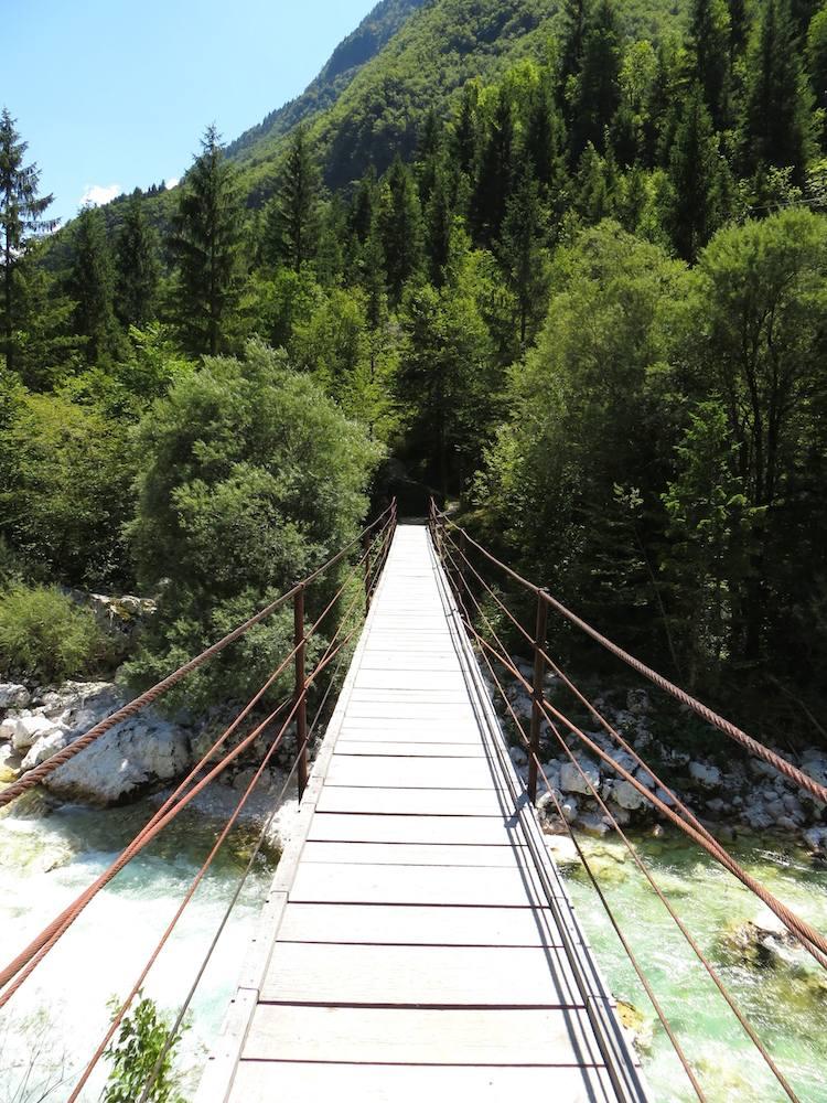 Bovec Soca Wanderweg