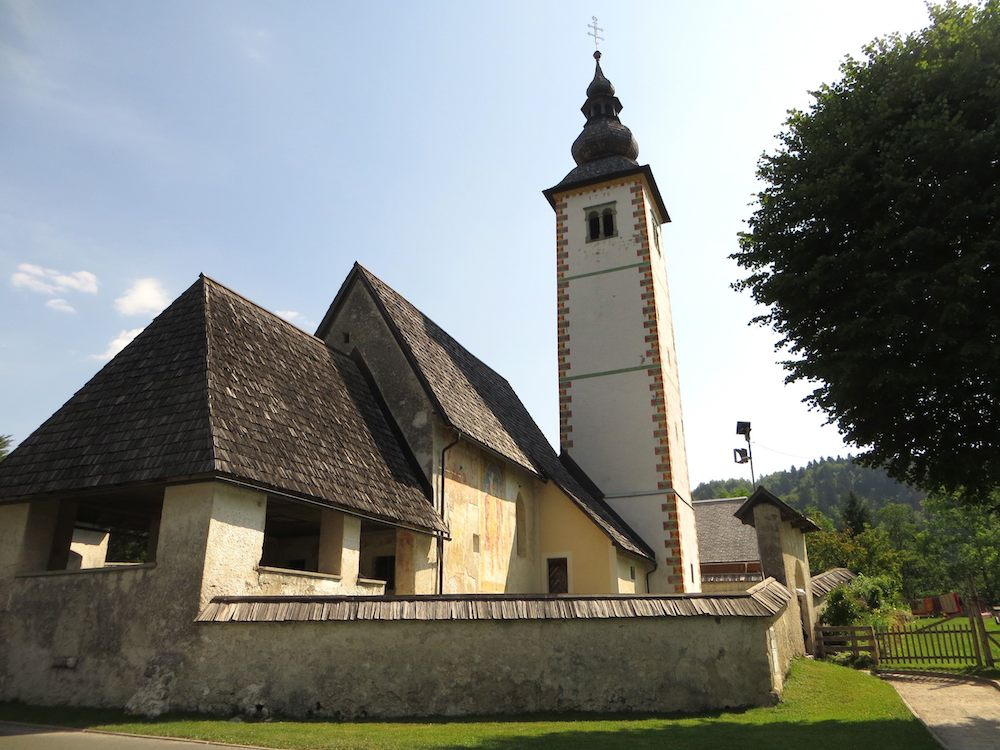 Bohinj See Slowenien Kirche