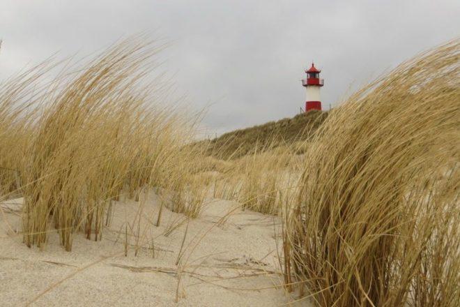 Leuchtturm am Ellenbogen List-Ost auf Sylt