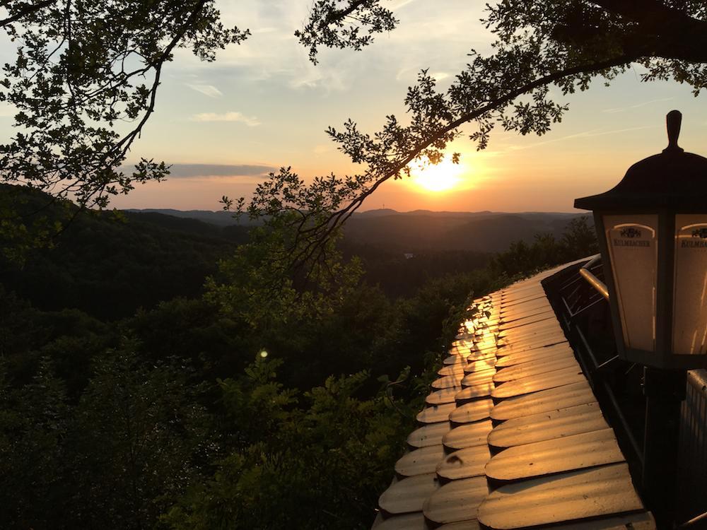 Burg Hartenstein Sonnenuntergang
