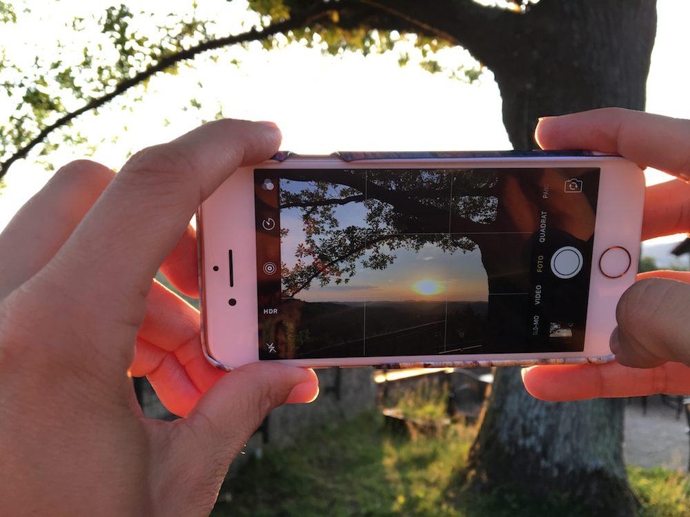 Sonnenuntergang Foto in Foto