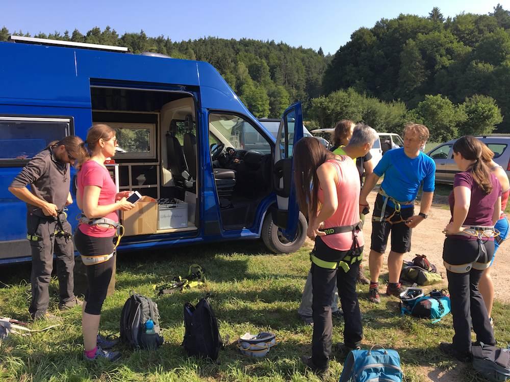 Klettersteig Höhenglücksteig : Klettersteig event für anfänger tourendatenbank