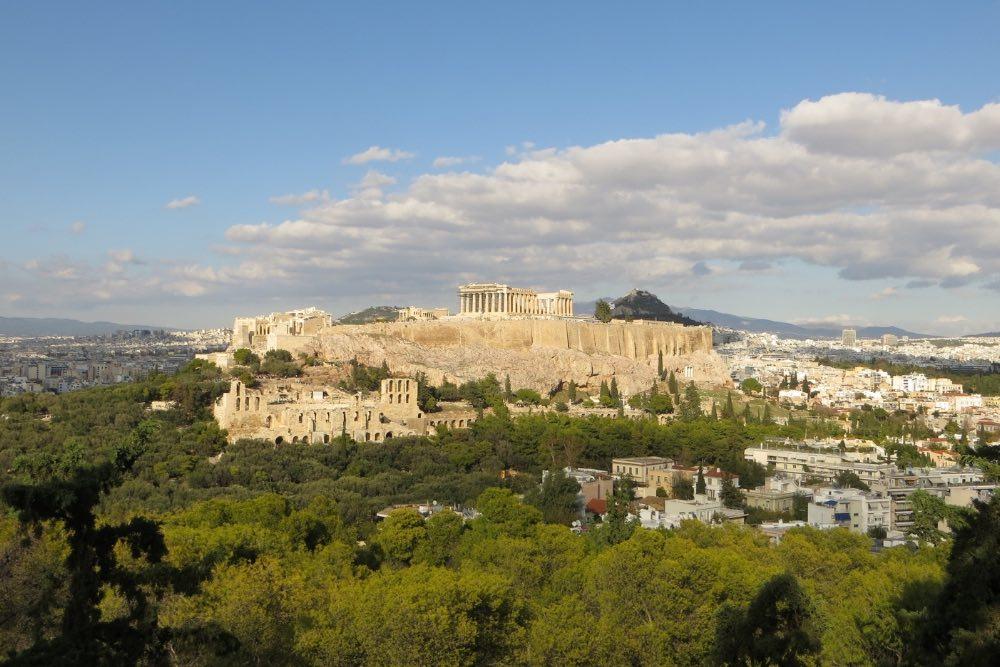 Athen Ausblick Pnyx