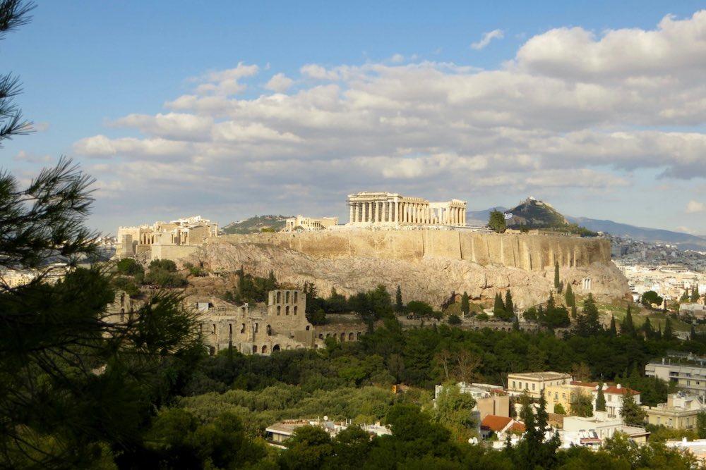 Athen Sehenswürdigkeiten Aussicht Pnyx