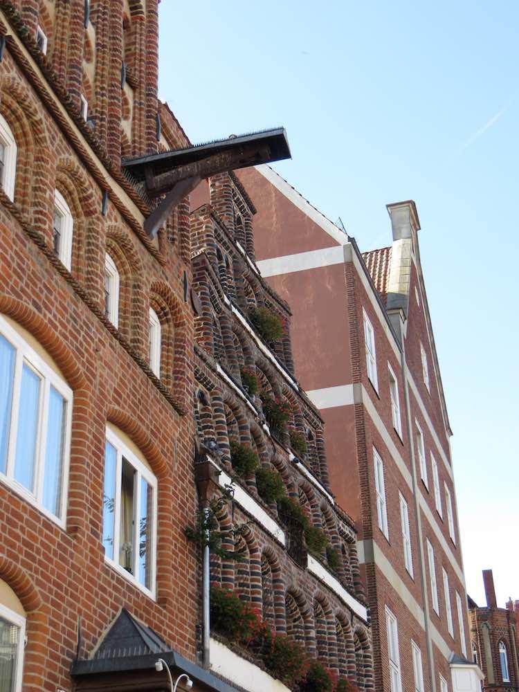 Schiefe Häuser in Lüneburg