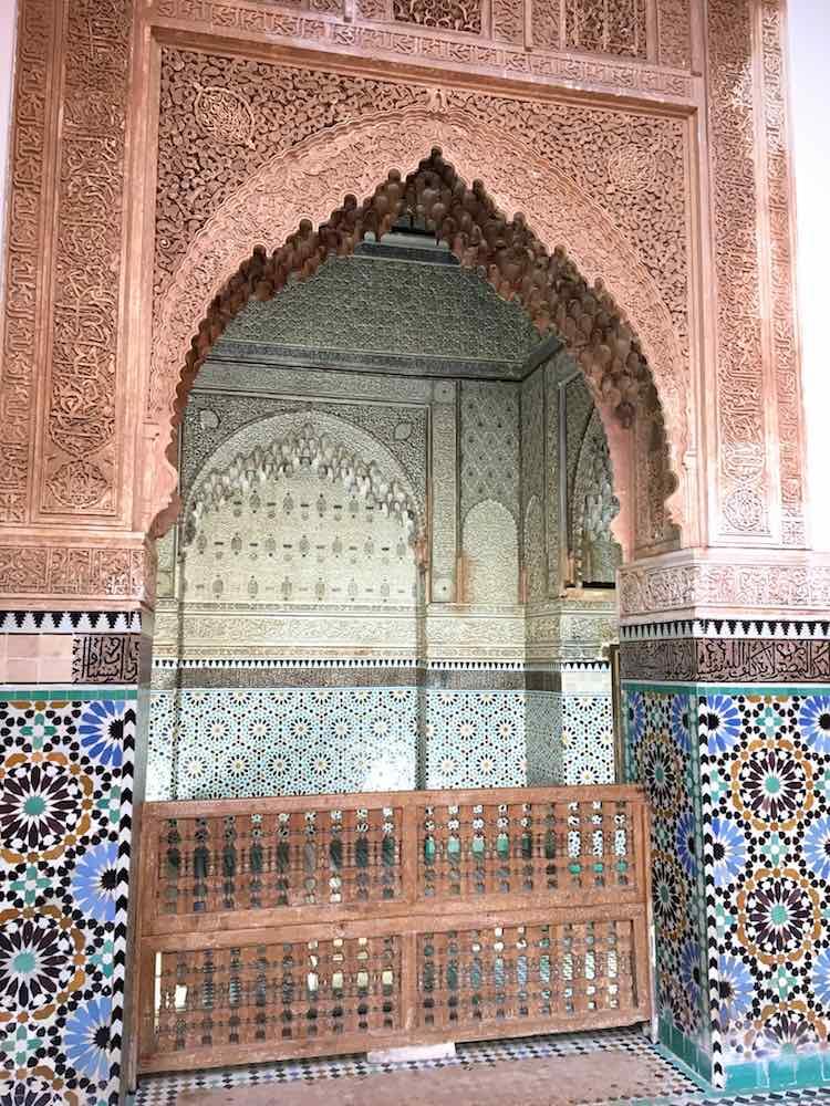 Marrakesch Urlaub Saadier Gräber