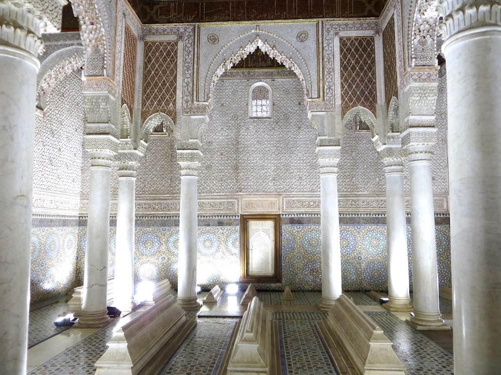 Marrakesch Sehenswürdigkeiten Saadier Gräber