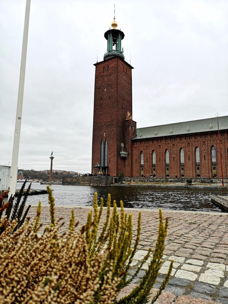 Das Rathaus in Stockholm.