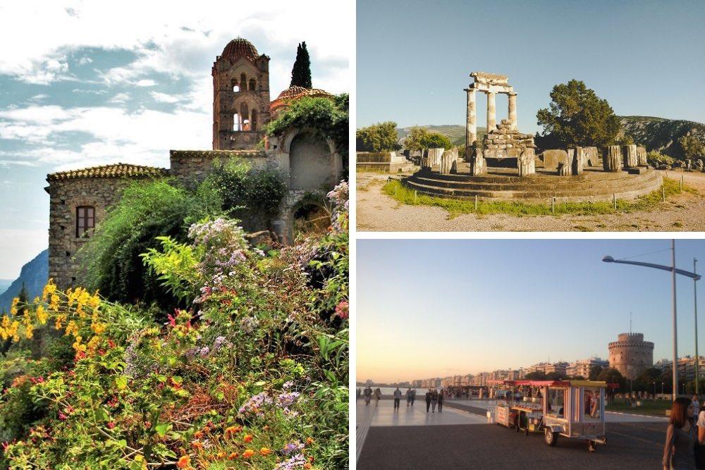 Griechenland Urlaubsziele Collage