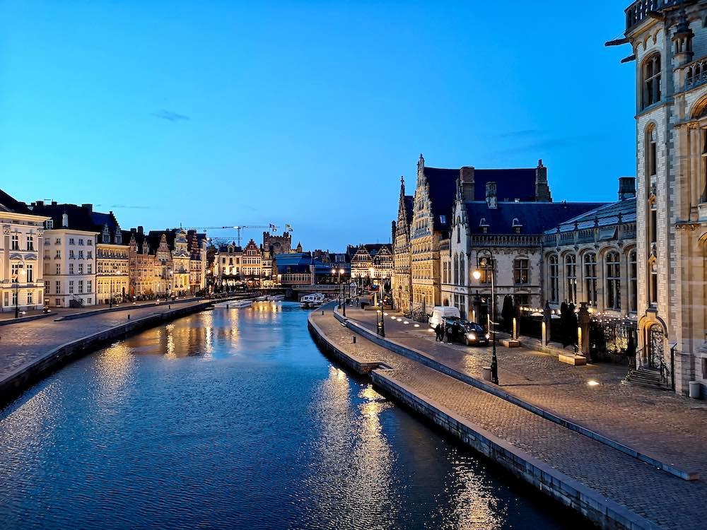 Gent Sehenswürdigkeiten bei Nacht