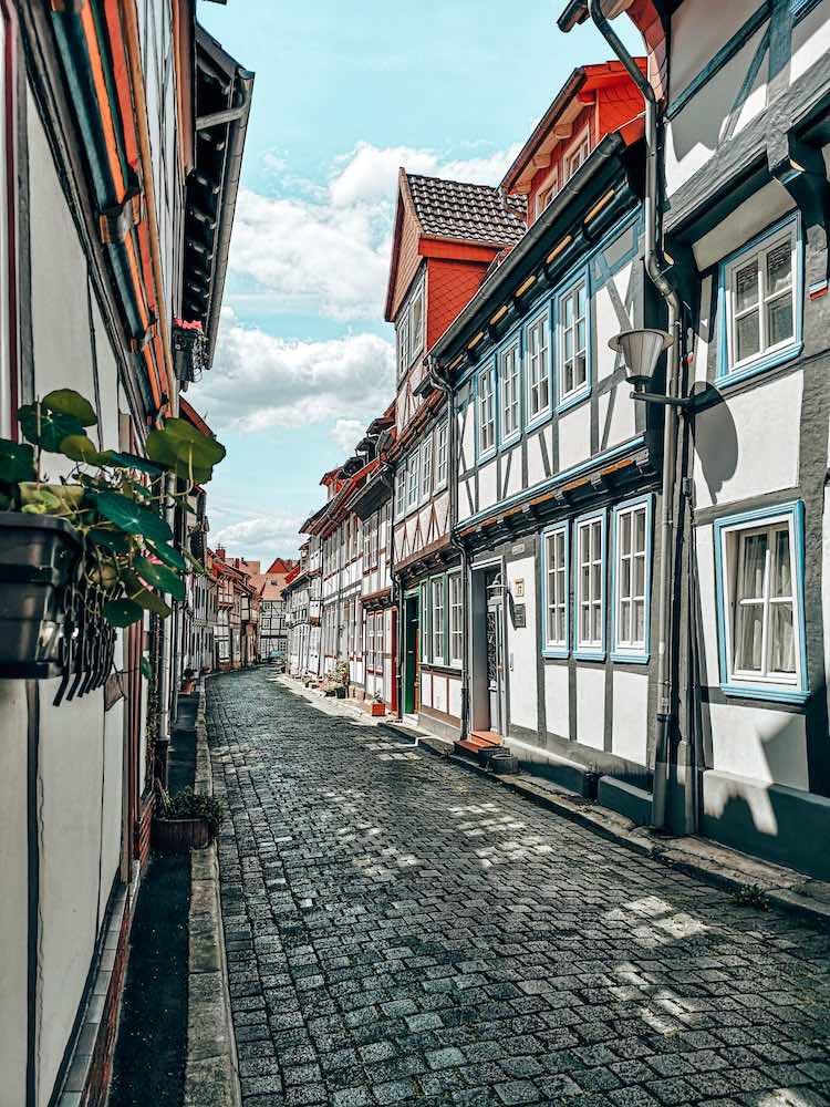 Fachwerkhäuser in der Holzhäuserstraße