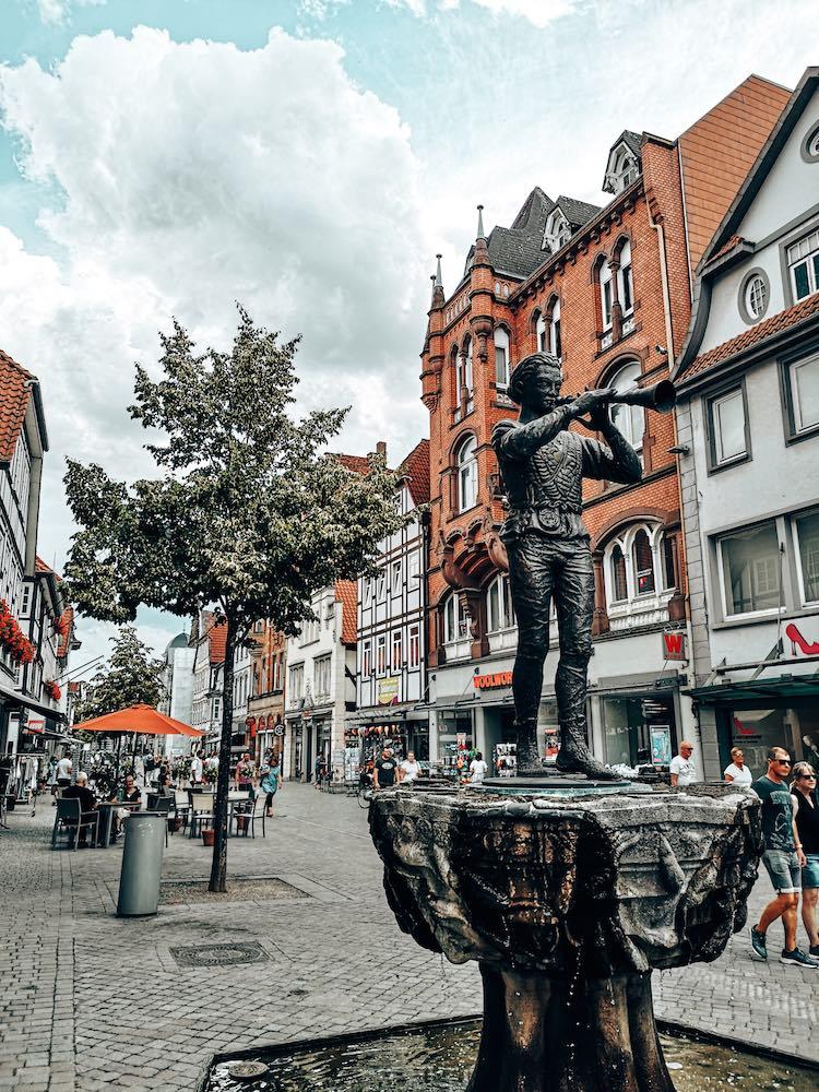 Rattenfänger Statue in Hameln