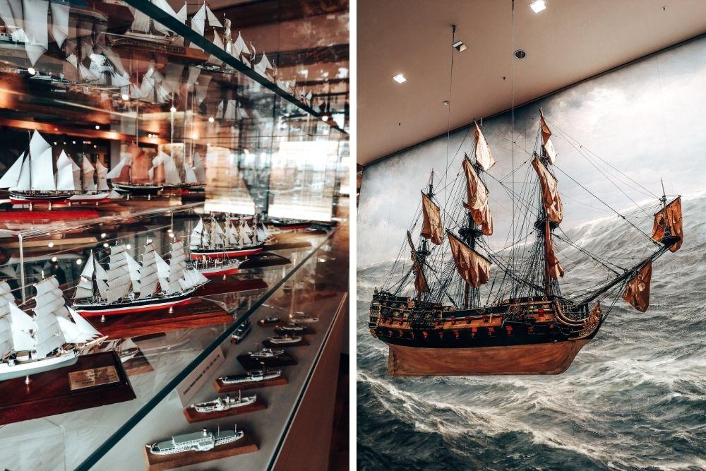 Maritimes Museum Hamburg Beispiele für Exponate